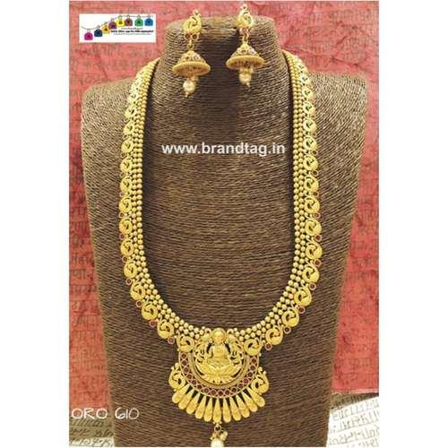 Exclusive Diwali Collection - Golden Sunrise Lakshmi Maa Long Necklace set!