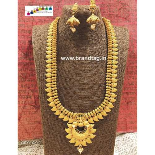 Exclusive Diwali Collection - Ambika Golden Long Necklace Set!