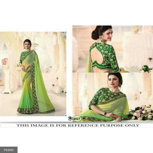 Fancy Chinon Silk Sarees for women !