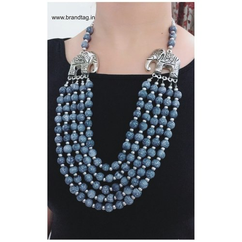 Valentine's Day Collection . . . Elegant yet Stylish Five Layered Long Beaded Necklace for women !
