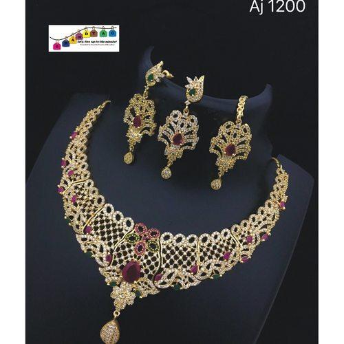 Sparkling Necklace set!! Teej Collection!!