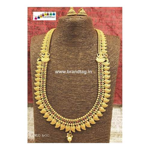 Exclusive Diwali Collection - Aamprapali Golden Long Necklace Set!