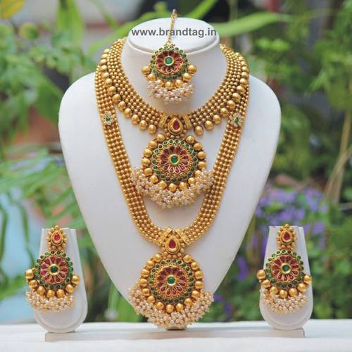 Beautifully Designed Traditional Bridal Necklace set !