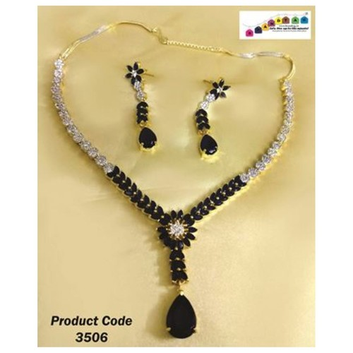 Sparkling American Diamond's Necklace set !