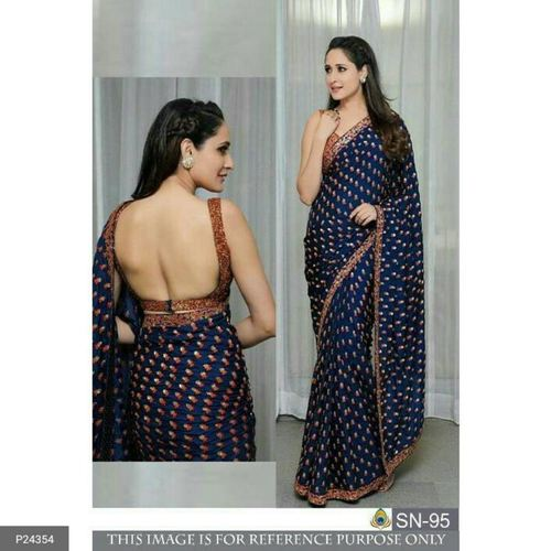 Fancy Chinon Silk Sarees !