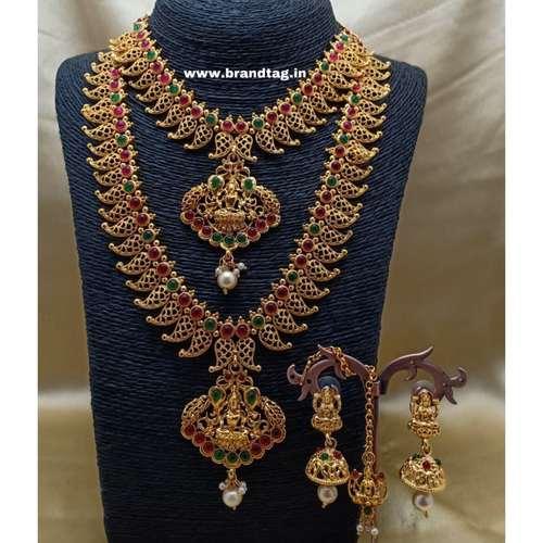 BrandTag's Golden Kadambari Necklace set !