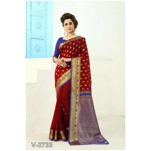 Exclusive Gudhi Padwa Collection - Banarasi Silk Saree for women !