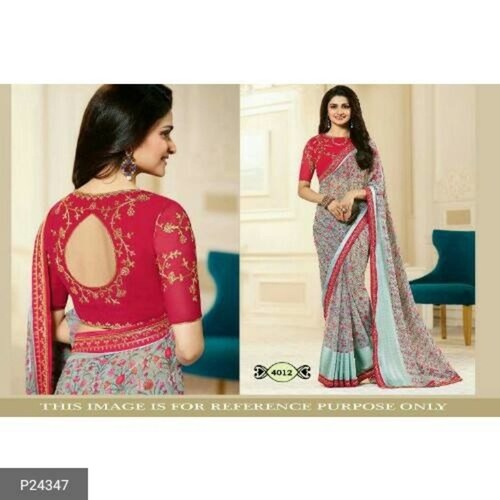 Fancy Chinon Silk Sarees for women !