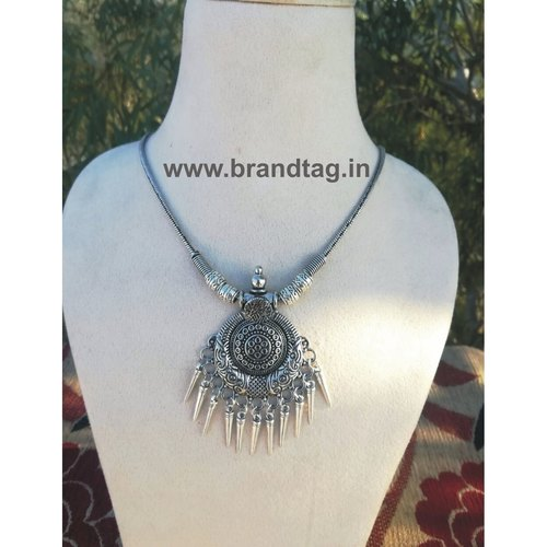 Valentine's Day Collection . . . Luminous Silver Oxidized Pendant for women !