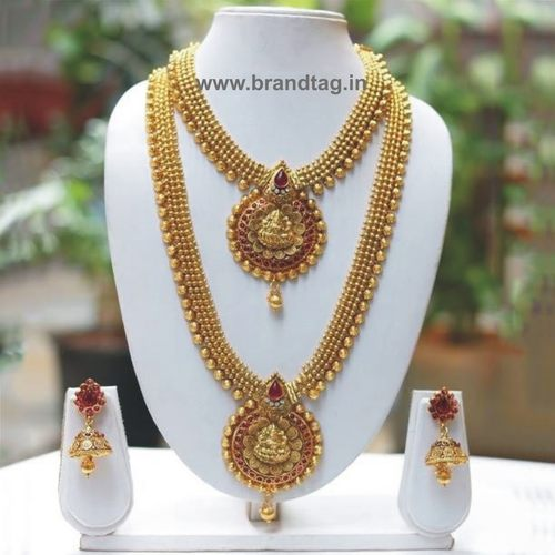Ethnic Matte finished Bridal Necklace set !