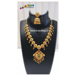 Diwali Collection - Matt finished Golden Necklace Set!