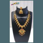 Diwali Collection - Matt finished Golden Necklace Set!