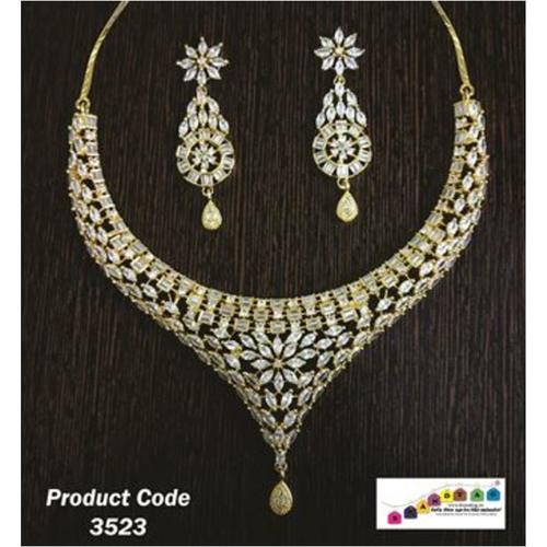 Beautifully Designed, High Quality American Diamond's Necklace set !