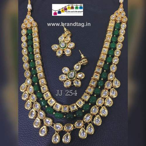 Royal elegant long  Kundan Necklace set...!!!