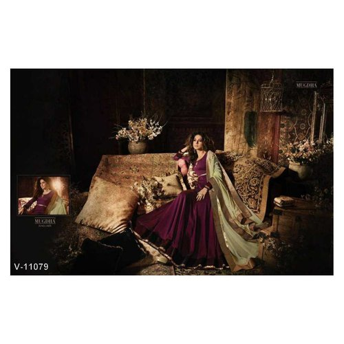 Pure Silk Semi Stitched Dresses for women