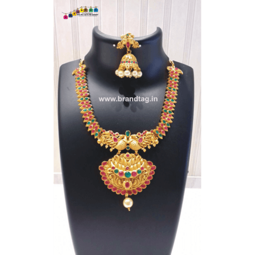 Diwali Collection - Ethnic Golden Necklace set!