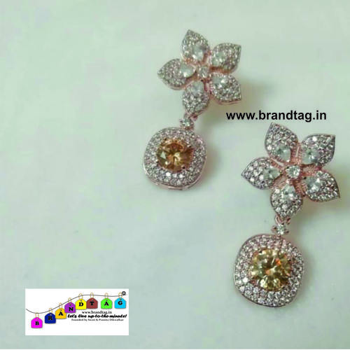 BrandTag's Super-glamorous American Diamond Earrings from its Rhea Collection !