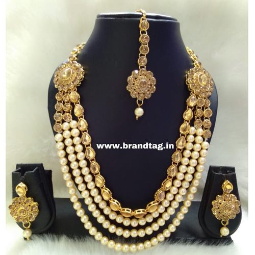 BrandTag's Multi- layered Beaded Saloni Necklace set !