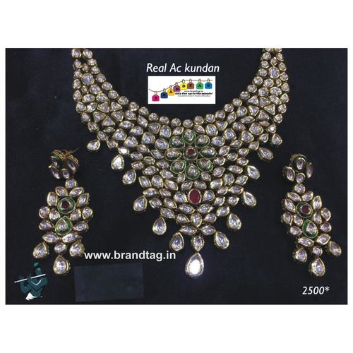 Beautifully Designed Real AC Kundan Necklace set !
