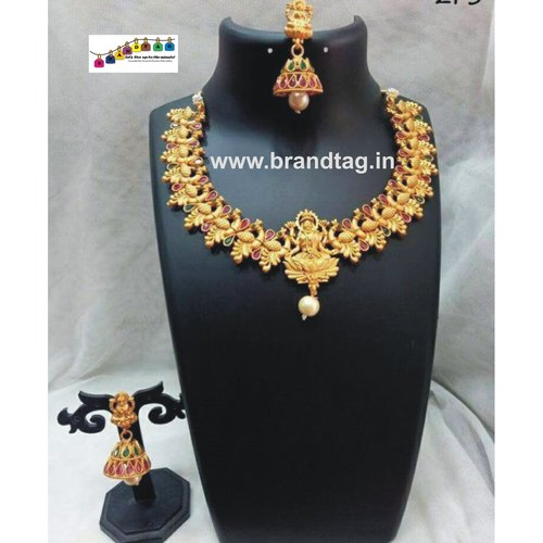 Exquisite Golden Temple Necklace set!