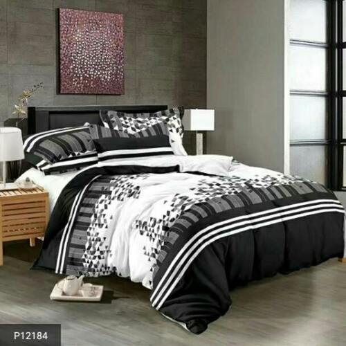 Black &White Bed sheets with Pillow Cover!