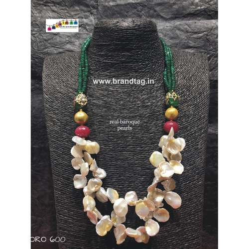 Dussehra Collection...Contemporary Real Baroque Pearls Ora Necklace!!