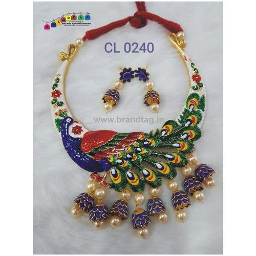 Attractive Ethnic Peacock Necklace set !