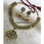 Ethnic shining Golden Necklace set for women !