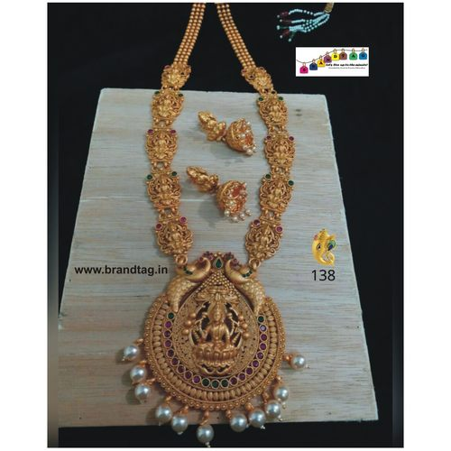 Traditional Baahubali Divine Temple Long Necklace Set!!!