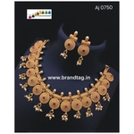 Special Ganesh Festival Collection .Mesmerizing Royal golden Chakli Necklace set!