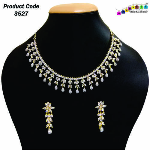Mesmerizing Finely Designed American Diamond's Necklace Set !