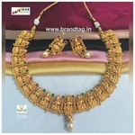 Divine Laxmi  Golden Temple Necklace set!!