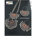 Special Navratri Collection...Silver Oxidized Afgaani Necklace Set!!