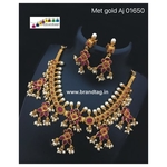 Special Ganesh Festival Collection.. Eye Pleasing Golden Queens Necklace set..!