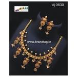 Special Ganesh Festival Collection ....Golden Brick Necklace!!