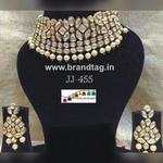 Royal elegant  Kundan  Neck-fitted modern necklace set...!!!