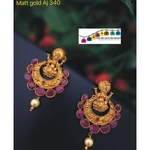 Matt Golden Temple Earrings!