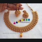 Beautifully designed Golden Koyari Matt finished Necklace set!