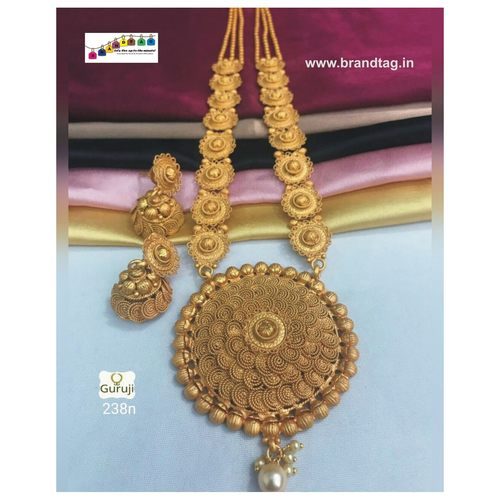 Exquisite Golden Chakli Thali Necklace set!!