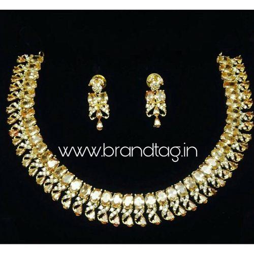 Beautifully Designed Round Shaped AD Necklace set !
