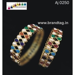 Uniquely designed multi colored bangles!!
