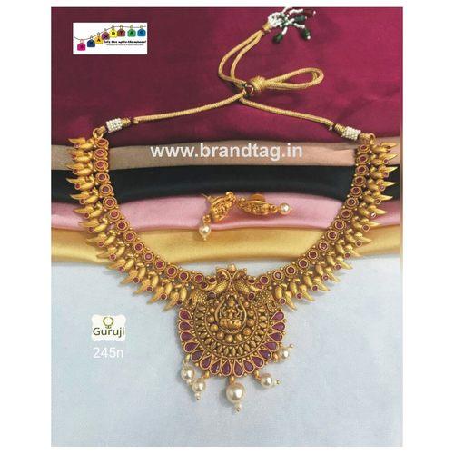Meenakshi  Golden Temple Necklace set!!