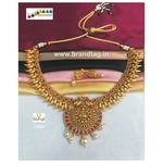 Meenakshi  Golden Temple Necklace set!!