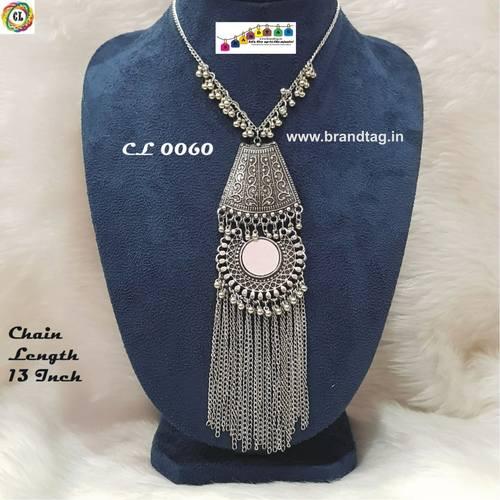 Silver Oxidized Contemporary Necklace !
