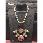 Dussehra Collection...Casual Contemporary Pearl  & Stones Oro Necklace!!