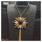 Dussehra Collection... Contemporary Golden Long Ora Necklace!!