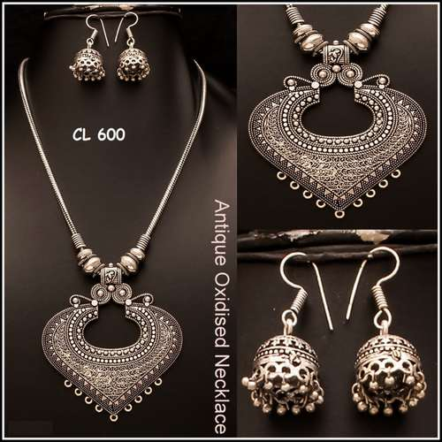 Antique Oxidised Neck-piece set ...Available in 3 different varieties.