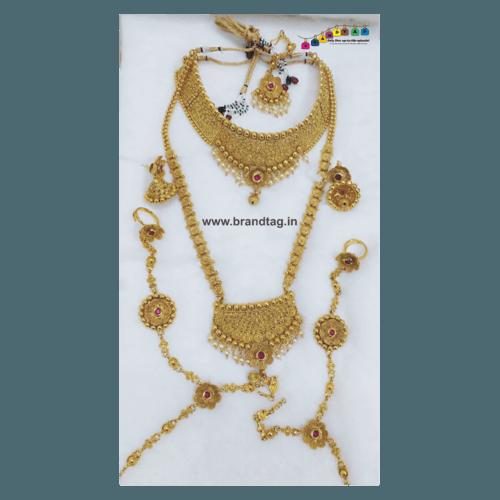Royal Golden Combo Necklace Set!!
