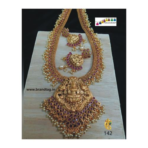 Beautiful Baahubali Divine Temple Long Necklace Set!!!