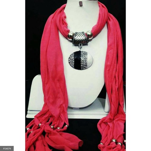 Attractive Scarves with Attached Jewellery for women !